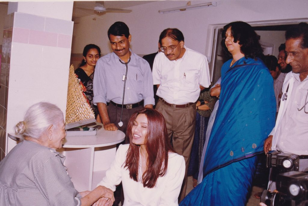 Former Miss World,Diana Hayden during her visit to our facility